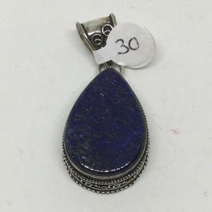 Lapis Lazuli Silver Pendant teardrop